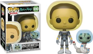 Boneco Rick e Morty Space Suit Morty With Snake. Pop Funko 690