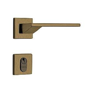 Fechadura para Porta de Entrada Oxidada 55mm com Roseta MZ440 Design Papaiz