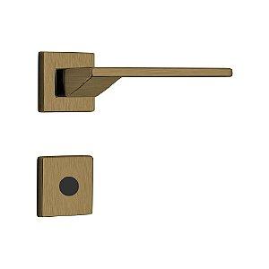 Fechadura para Porta de Banheiro Oxidada 55mm com Roseta MZ440 Design Papaiz