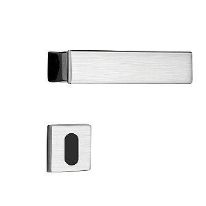 Fechadura para Porta Interna Cromo Acetinado 55mm com Roseta MZ530 Design Papaiz