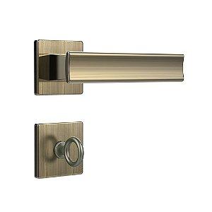 Fechadura para Porta de Banheiro Oxidada 40mm com Roseta MZ640 Design Papaiz