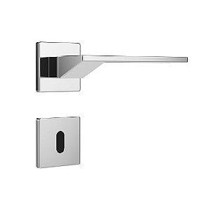 Fechadura para Porta Interna Cromada 40mm com Roseta MZ630 Design Papaiz