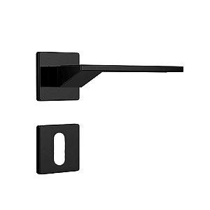 Fechadura para Porta Interna Preto Fosco 40mm com Roseta MZ630 Design Papaiz