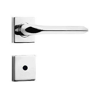 Fechadura de Inox para Porta de BanheiroCromada55mm com Roseta MI680 InoxvitaPapaiz