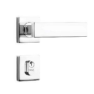 Fechadura de Inox para Porta de Entrada Cromada55mm com Roseta MI670 InoxvitaPapaiz