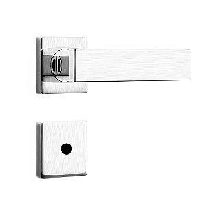 Fechadura de Inox para Porta de Banheiro Cromo Acetinado55mm com Roseta MI670 InoxvitaPapaiz