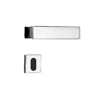 Fechadura para Porta Interna Cromada 55mm com Roseta MZ530 Design Papaiz