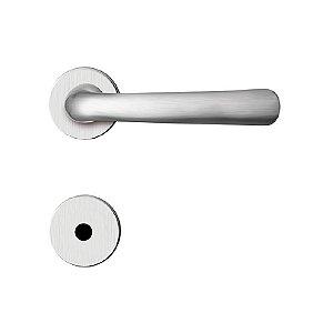 Fechadura para Porta de Banheiro Cromo Acetinado 55mm com Roseta MZ430 Design Papaiz