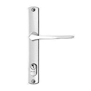 Fechadura para Porta de Alumínio Perfil Entrada Cromada 22mm MZ33 Papaiz