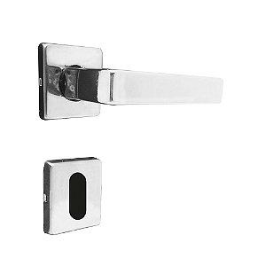 Fechadura para Porta Interna Cromada 40mm com Roseta MZ560 Fit Papaiz