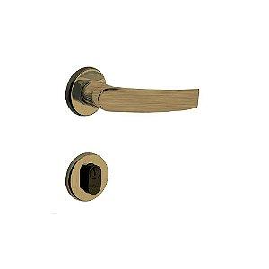 Fechadura para Porta de Entrada Oxidada 40mm com Roseta MZ950 Standard Papaiz