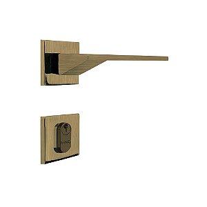 Fechadura para Porta de Entrada Oxidada 55mm com Roseta MZ940 Design Papaiz