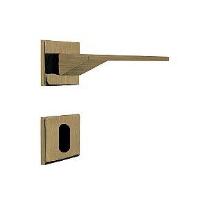 Fechadura para Porta Interna Oxidada 55mm com Roseta MZ940 Design Papaiz