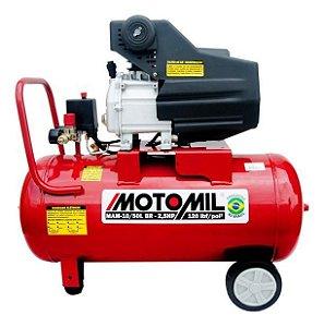 Compressor De Ar 50 Litros Motomil 8,8Pcm 2,5Hp Mam-10/50l Bivolt