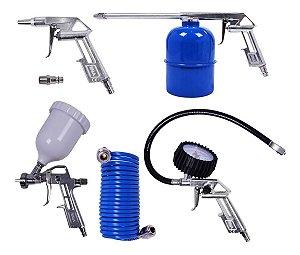 Acessórios Pneumáticos Kala Pistola Calibrador Pulverizador Mangueira P5k