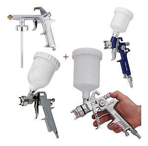 Pistola De Pintura Hvlp Bico 1,4 1,5 E 1,0 E Sucção K4