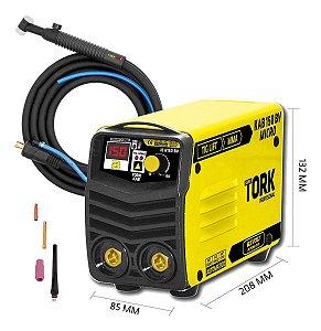 Máquina De Solda 2 Em 1 Mma + Tig Super Tork Kab150 Micro Bivolt Com Tocha Tig Tt0
