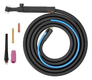 Tocha Tig Seca Com Válvula Oximig Corpo Hw-26v Conector 13mm Ts1