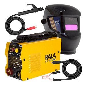 Inversor de Solda Eletrodo Tig Kala Ksi130 130amp 110/220v Bivolt com Máscara Automática Kk2