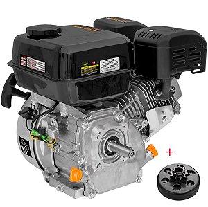 Motor Estacionário A Gasolina 7hp Toyama Te70xp Partida Manual com Embreagem Centrifuga Em4