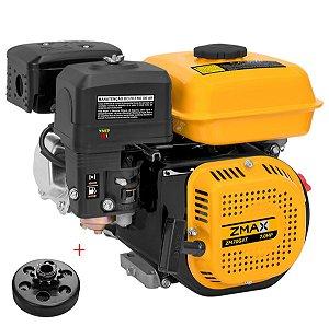 Motor a Gasolina Zmax 7hp 210cc Partida Manual com Embreagem Centrifuga Coroa Em2