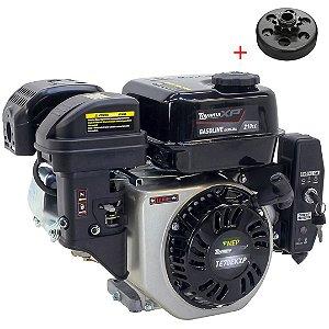 Motor a Gasolina Toyama 7hp 210cc Partida Elétrica com Embreagem Centrifuga Coroa Em6