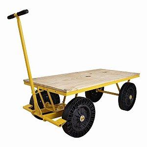 Carrinho Plataforma de Movimentação 300kg Lynus Mp300 Mp0