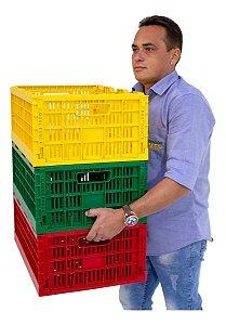 Caixa Plástica Dobrável Desmontável Cap. 40kg / 5 Peças Cd5