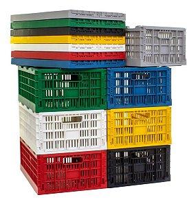 Caixa Plástica Dobrável Desmontável Cap. 40kg / 7 Peças Cd7