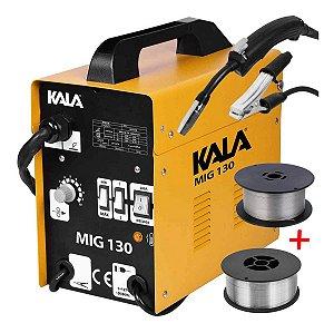 Máquina de Solda Mig Sem Gás Kala 130 220 Volts Mk2
