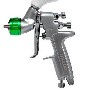 Pistola de Pintura Bico 1,0 Italco H921 Mini Hvlp 250ml Pe9