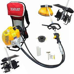 Roçadeira Costal Motocultivador Enxada Rotativa a Gasolina Vulcan Vrc430 43cc Vr2