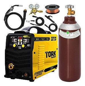 Máquina de Solda Mig Tig Eletrodo Tork Imets8180 180a Completa Mt1