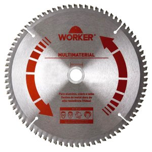 "Disco para Serra Circular para Aluminio Multimaterial Worker 7.1/4"" 185mm 60 Dentes Dmw"
