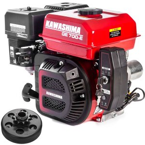 Motor a Gasolina Kawashima 7hp 212cc Partida Elétrica com Embreagem Coroa Em9