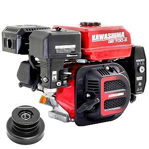 Motor a Gasolina Kawashima 7hp 212cc Partida Elétrica com Embreagem Polia Em3