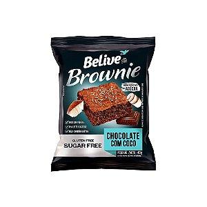 BROWNIE DE CHOCOLATE COM COCO SEM GLÚTEN 40G BELIVE