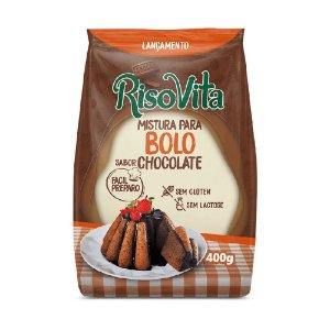 MISTURA BOLO CHOCOLATE 400G RISOVITA