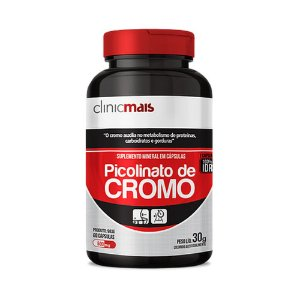 PICOLINATO DE CROMO 60 CÁPSULAS 500MG CLINICMAIS
