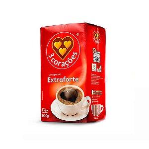 CAFÉ EXTRA FORTE TORRADO E MOÍDO 500G 3 CORAÇÕES