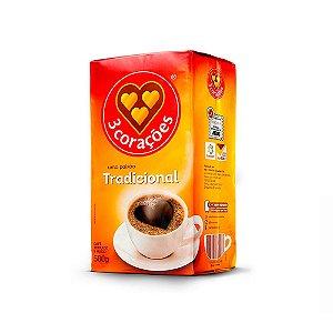 CAFÉ TRADICIONAL TORRADO E MOÍDO 500G 3 CORAÇÕS