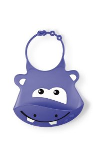 Babador de Silicone Silybib Hipopótamo Roxo - Multikids Baby