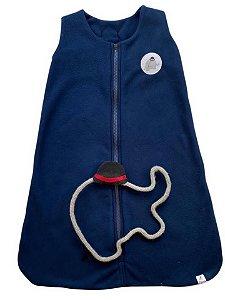 Saco de Dormir Infantil Bebê Tam 0 a 9 Meses Soft Marinho - Lefante
