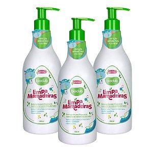 3 Unidades Detergente para Mamadeiras e Utensílios de Bebê 500ml - Bioclub Baby