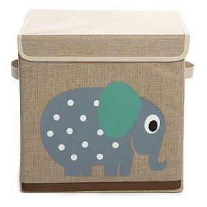 Caixa Organizadora Infantil Linha Bichos com Elefante - Esquilo