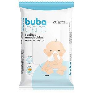 Toalhas Umedecidas Baby Nariz e Rosto 20 Unidades - Buba