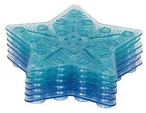 Tapete de Banho Antiderrapante Mini 6 Peças Azul - Kababy