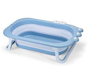 Banheira de Bebê Dobrável Crocodilo Azul - Multikids Baby