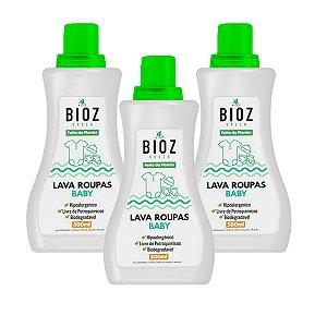 Lava Roupas de Bebê Natural 3 Unidades 1,5L  Bioz Green