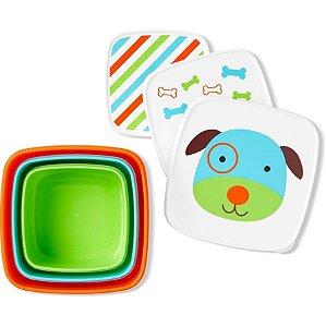 Porta Snacks ZOO com 3 Unidades Cachorro - Skip Hop